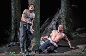 Leporello (Sampetrean) and Don Giovanni (Maltman) indulge in destructive impulses © Marco Borggreve